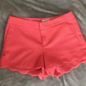 Pants - Scalloped Coral Shorts